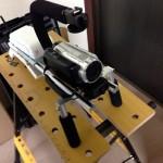 台座下にもアルミ板の補強を固定